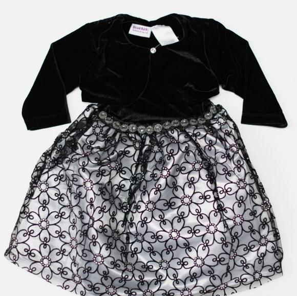 Blueberi Boulevard Other - Blueberi Toddler Girl Dress & Shrug Set 2T